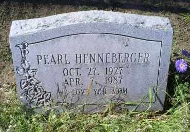 HENNEBERGER, PEARL - Ross County, Ohio | PEARL HENNEBERGER - Ohio Gravestone Photos