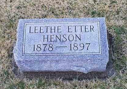 HENSON, LEETHE ETTER - Ross County, Ohio | LEETHE ETTER HENSON - Ohio Gravestone Photos