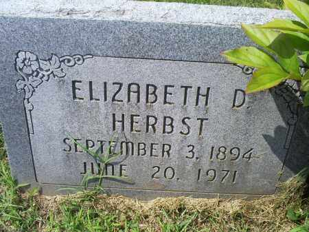 HERBST, ELIZABETH D. - Ross County, Ohio | ELIZABETH D. HERBST - Ohio Gravestone Photos