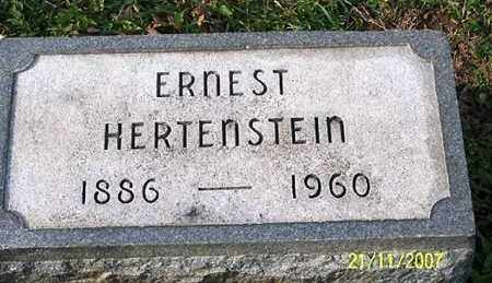 HERTENSTEIN, ERNEST - Ross County, Ohio | ERNEST HERTENSTEIN - Ohio Gravestone Photos