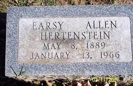 HERTENSTEIN, EARSY ALLEN - Ross County, Ohio | EARSY ALLEN HERTENSTEIN - Ohio Gravestone Photos