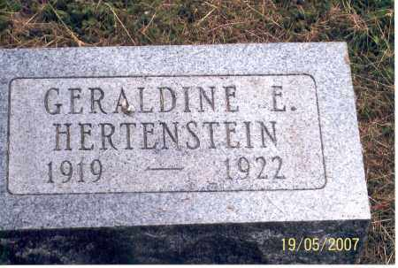 HERTENSTEIN, GERALDINE E. - Ross County, Ohio | GERALDINE E. HERTENSTEIN - Ohio Gravestone Photos