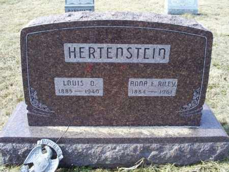 RILEY HERTENSTEIN, ANNA E. - Ross County, Ohio | ANNA E. RILEY HERTENSTEIN - Ohio Gravestone Photos