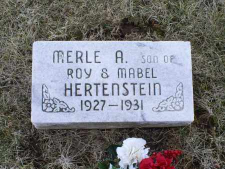 HERTENSTEIN, MERLE A. - Ross County, Ohio | MERLE A. HERTENSTEIN - Ohio Gravestone Photos