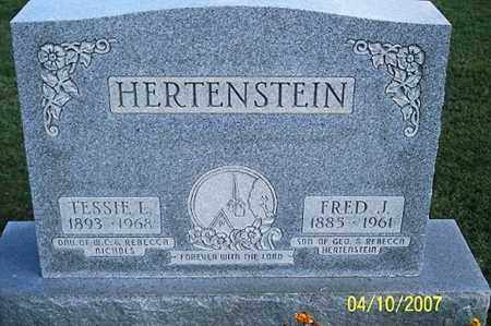 HERTENSTEIN, TESSIE L. - Ross County, Ohio | TESSIE L. HERTENSTEIN - Ohio Gravestone Photos