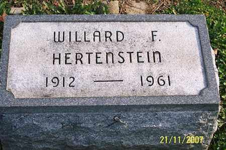 HERTENSTEIN, WILLARD F. - Ross County, Ohio | WILLARD F. HERTENSTEIN - Ohio Gravestone Photos