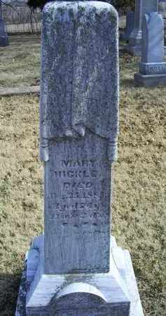 HICKLE, MARY - Ross County, Ohio | MARY HICKLE - Ohio Gravestone Photos