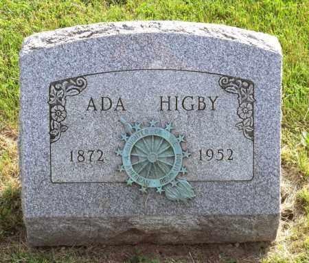 HIGBY, ADA AMANDA - Ross County, Ohio | ADA AMANDA HIGBY - Ohio Gravestone Photos