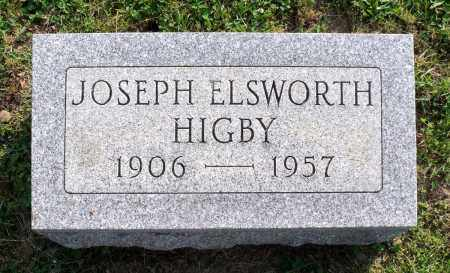 HIGBY, JOSEPH ELSWORTH - Ross County, Ohio | JOSEPH ELSWORTH HIGBY - Ohio Gravestone Photos