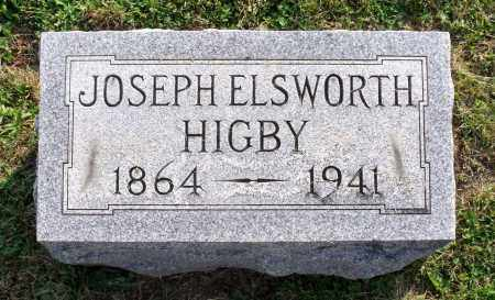 HIGBY, JOSEPH ELSWORTH - Ross County, Ohio | JOSEPH ELSWORTH HIGBY - Ohio Gravestone Photos