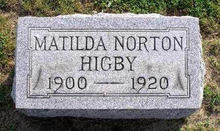 HIGBY, MATILDA - Ross County, Ohio | MATILDA HIGBY - Ohio Gravestone Photos