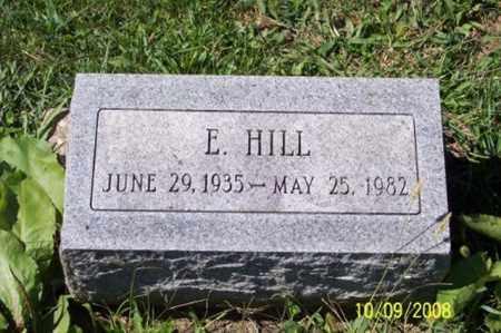 HILL, E. - Ross County, Ohio | E. HILL - Ohio Gravestone Photos