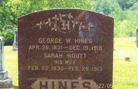 HINES, GEORGE W. - Ross County, Ohio | GEORGE W. HINES - Ohio Gravestone Photos