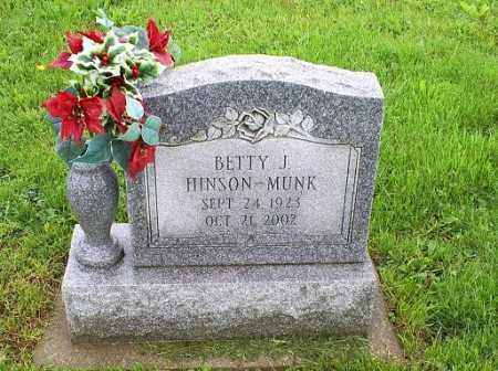 HINSON-MUNK, BETTY J. - Ross County, Ohio | BETTY J. HINSON-MUNK - Ohio Gravestone Photos