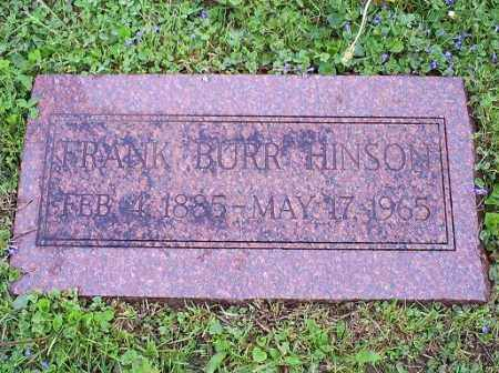 HINSON, FRANK BURR - Ross County, Ohio | FRANK BURR HINSON - Ohio Gravestone Photos