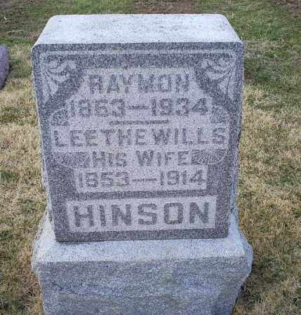 WILLS HINSON, LEETHE - Ross County, Ohio | LEETHE WILLS HINSON - Ohio Gravestone Photos