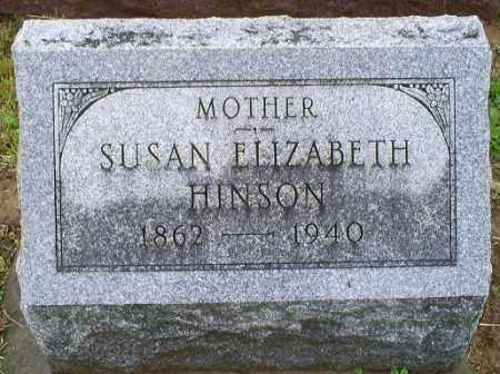 HINSON, SUSAN ELIZABETH - Ross County, Ohio | SUSAN ELIZABETH HINSON - Ohio Gravestone Photos
