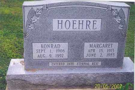 HOEHRE, KONRAD - Ross County, Ohio | KONRAD HOEHRE - Ohio Gravestone Photos