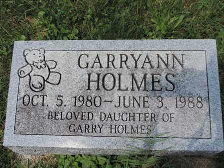 HOLMES, GARRYANN - Ross County, Ohio | GARRYANN HOLMES - Ohio Gravestone Photos