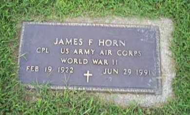 HORN, JAMES F. - Ross County, Ohio | JAMES F. HORN - Ohio Gravestone Photos