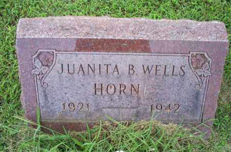 WELLS HORN, JUANITA B. - Ross County, Ohio | JUANITA B. WELLS HORN - Ohio Gravestone Photos