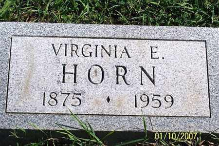 HORN, VIRGINIA E. - Ross County, Ohio | VIRGINIA E. HORN - Ohio Gravestone Photos