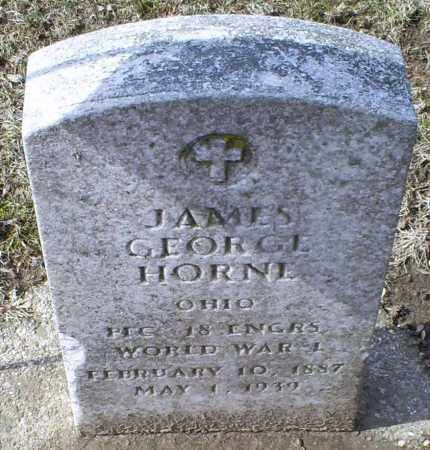 HORNE, JAMES GEORGE - Ross County, Ohio | JAMES GEORGE HORNE - Ohio Gravestone Photos