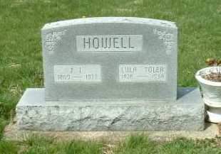 TOLER HOWELL, LULA - Ross County, Ohio | LULA TOLER HOWELL - Ohio Gravestone Photos