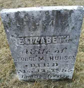 HUDSON, ELIZABETH - Ross County, Ohio | ELIZABETH HUDSON - Ohio Gravestone Photos