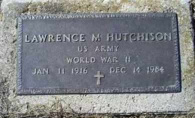 HUTCHISON, LAWRENCE M. - Ross County, Ohio | LAWRENCE M. HUTCHISON - Ohio Gravestone Photos