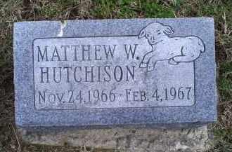 HUTCHISON, MATTHEW W. - Ross County, Ohio | MATTHEW W. HUTCHISON - Ohio Gravestone Photos