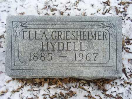 GRIESHEIMER HYDELL, ELLA - Ross County, Ohio | ELLA GRIESHEIMER HYDELL - Ohio Gravestone Photos