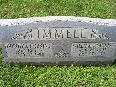 IMMELL, WILLIAM FRANKLIN - Ross County, Ohio | WILLIAM FRANKLIN IMMELL - Ohio Gravestone Photos