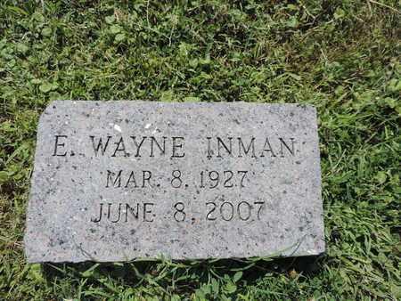 INMAN, E. WAYNE - Ross County, Ohio | E. WAYNE INMAN - Ohio Gravestone Photos