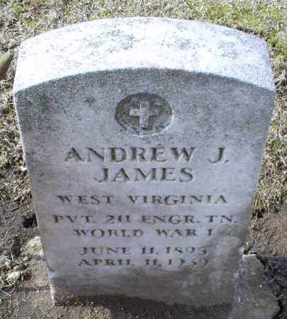 JAMES, ANDREW J. - Ross County, Ohio | ANDREW J. JAMES - Ohio Gravestone Photos
