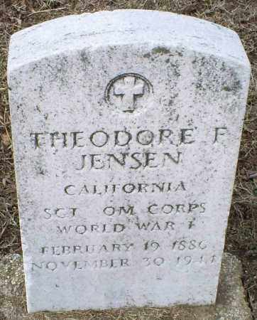 JENSEN, THEODORE F. - Ross County, Ohio | THEODORE F. JENSEN - Ohio Gravestone Photos