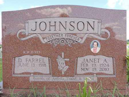 JOHNSON, D. FARREL - Ross County, Ohio | D. FARREL JOHNSON - Ohio Gravestone Photos