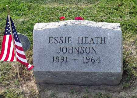 HEATH JOHNSON, ESSIE - Ross County, Ohio   ESSIE HEATH JOHNSON - Ohio Gravestone Photos
