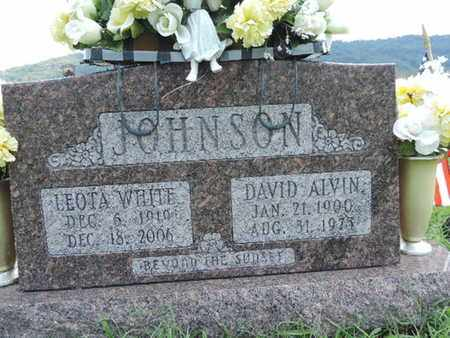 JOHNSON, DAVID ALVIN - Ross County, Ohio | DAVID ALVIN JOHNSON - Ohio Gravestone Photos