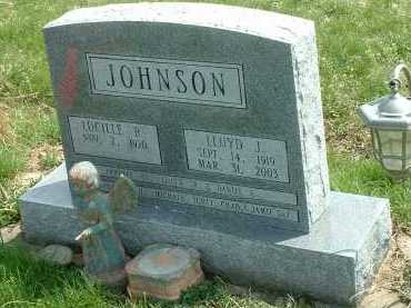 JOHNSON, LLOYD J. - Ross County, Ohio   LLOYD J. JOHNSON - Ohio Gravestone Photos