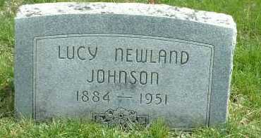 NEWLAND JOHNSON, LUCY - Ross County, Ohio | LUCY NEWLAND JOHNSON - Ohio Gravestone Photos