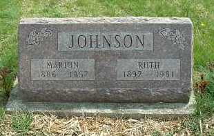 JOHNSON, MARION - Ross County, Ohio | MARION JOHNSON - Ohio Gravestone Photos