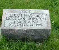 MCNEILAN JOHNSON, SARAH MARJORIE - Ross County, Ohio | SARAH MARJORIE MCNEILAN JOHNSON - Ohio Gravestone Photos