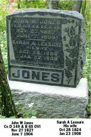 LEASURE JONES, SARAH A - Ross County, Ohio | SARAH A LEASURE JONES - Ohio Gravestone Photos