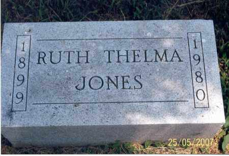 JONES, RUTH THELMA - Ross County, Ohio | RUTH THELMA JONES - Ohio Gravestone Photos