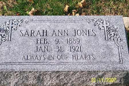 JONES, SARAH ANN - Ross County, Ohio | SARAH ANN JONES - Ohio Gravestone Photos