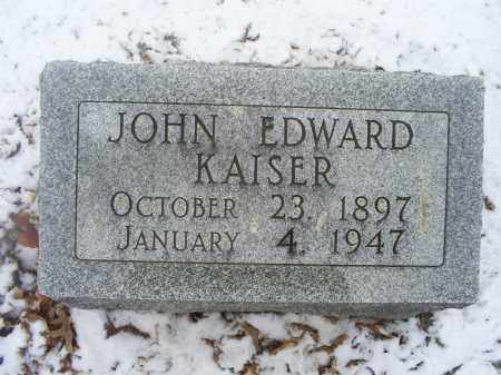 KAISER, JOHN EDWARD - Ross County, Ohio | JOHN EDWARD KAISER - Ohio Gravestone Photos