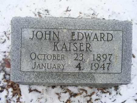 KAISER, JOHN EDWARD - Ross County, Ohio | JOHN EDWARD KAISER - Ohio Gravestone Photos