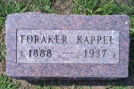 KAPPEL, FORAKER - Ross County, Ohio | FORAKER KAPPEL - Ohio Gravestone Photos