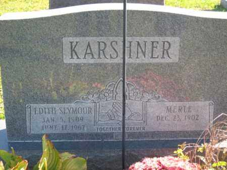 SEYMOUR KARSHNER, EDITH H. - Ross County, Ohio | EDITH H. SEYMOUR KARSHNER - Ohio Gravestone Photos